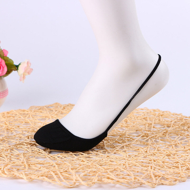 Women Cotton Half feet Antiskid Invisible Liner No Show Low Cut Sling Ankle Sock