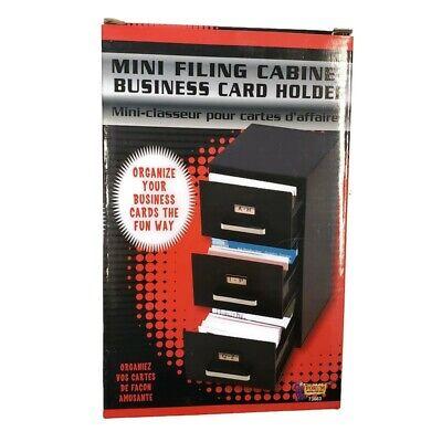 Forum Novelties 3-drawer Mini Filing Cabinet Business Card Holder 9 X 5 X 4