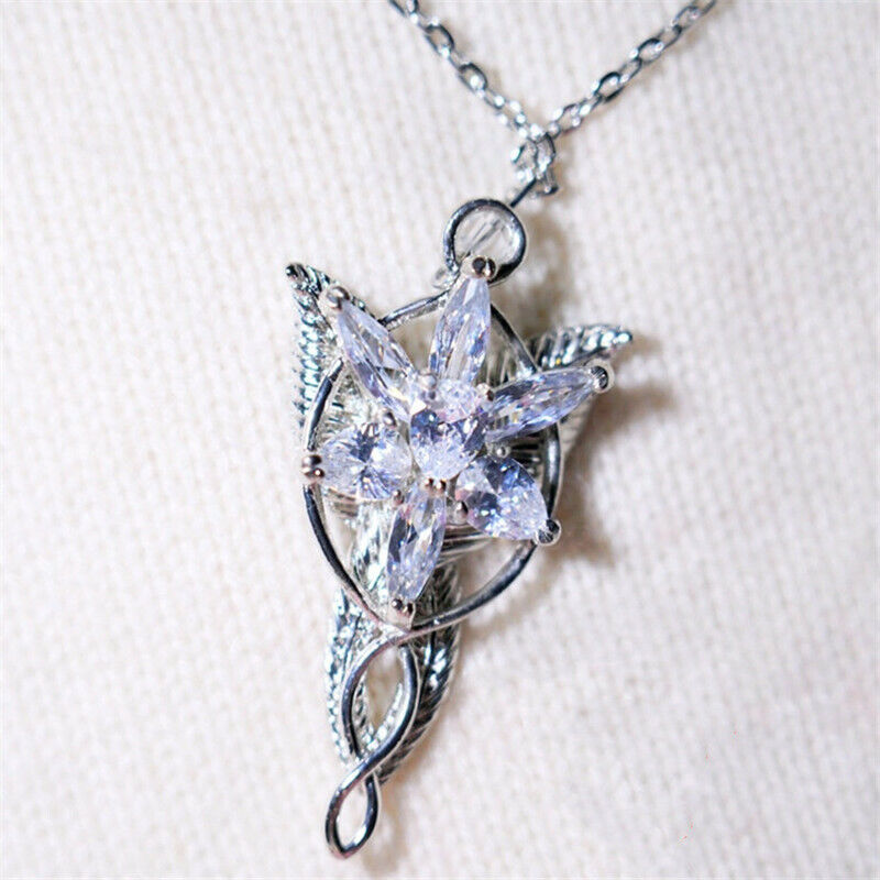 The Lord of the Rings Arwen Evenstar Necklace Pendant Cosplay Jewelry Gifts