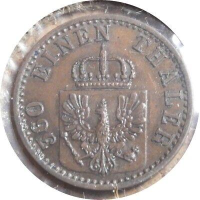 elf Germany Prussia Kingdom  1 Pfennig 1871 A Franco-Prussian War