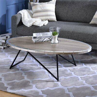 Acme Oak Coffee Table (ACME Allis Coffee Table in Weathered Gray)