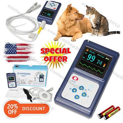 Spo2 Veterinary Blood Oxygen Animal Pulse Oximeter Usb Pc Software Batteries