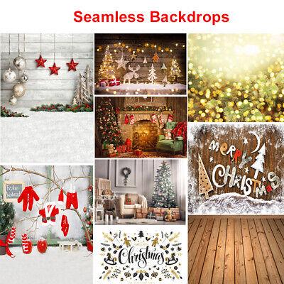 Snowflake Gold Glitter Winter Christmas Backdrops Snow Wooden Floor Background ()