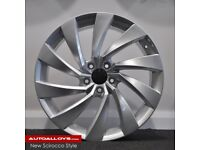 """17"""" Scirroco 2 Style alloy wheels and tyres (5x100) Suits VW Polo, Audi A1, Seat Ibiza etc"""