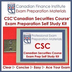 CSC Canadian Securities Course Textbook 2018 Study Kit