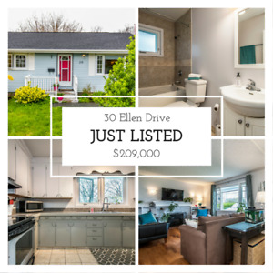 *JUST LISTED, Lovely Bungalow Only $209,000, 30 Ellen Dr*