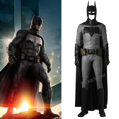 Batman Justice League Cosplay Costume Jacket Superhero Halloween Outfit Suit  (Batman Suit)