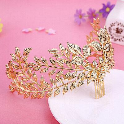 Wedding Bridal Gold Branch Headband Headpiece Luxury Party Crown Hair Accessory
