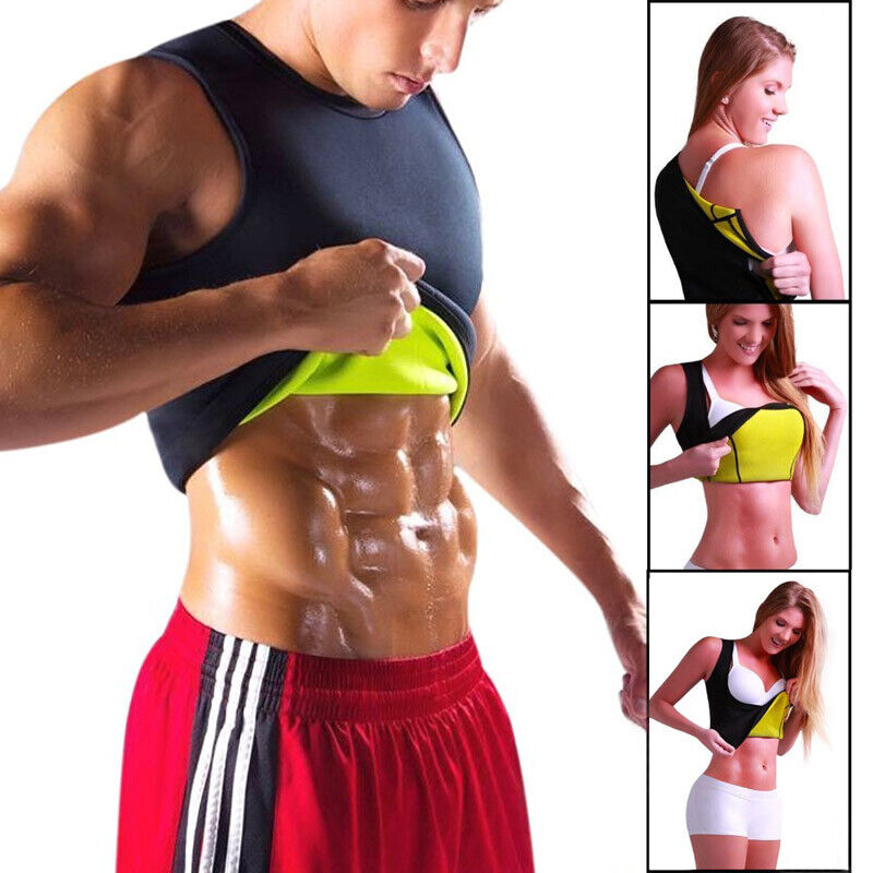 SHAPER SHIRT MAN WOMEN Sweat Hot Cami Slimming Weight Loss F