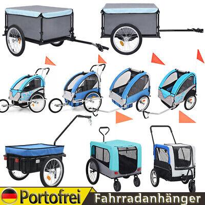 Fahrradanhänger Lastenanhänger / Kinderanhänger / Hundetransporter Jogger Blau