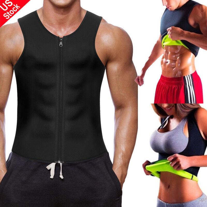 Mens Weight Loss Waist Trainer Vest Sauna Sweat Body Shaper