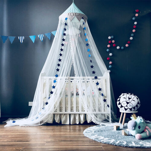 Baby Bed Star Canopy Bedcover Mosquito Net Curtain Bedding Cot Cotton Dome Tent