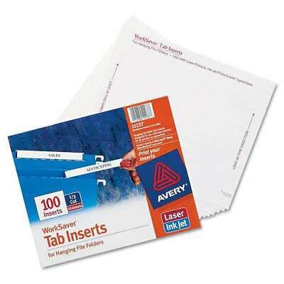 Avery Laserinkjet Hanging File Folder Inserts 13 Tab 3 12 072782111373