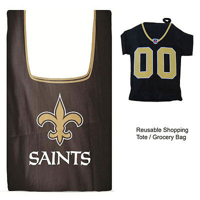 New Orleans Shopping (New Jersey Style NFL New Orleans Saints Reusable Shopping Tote Grocery)