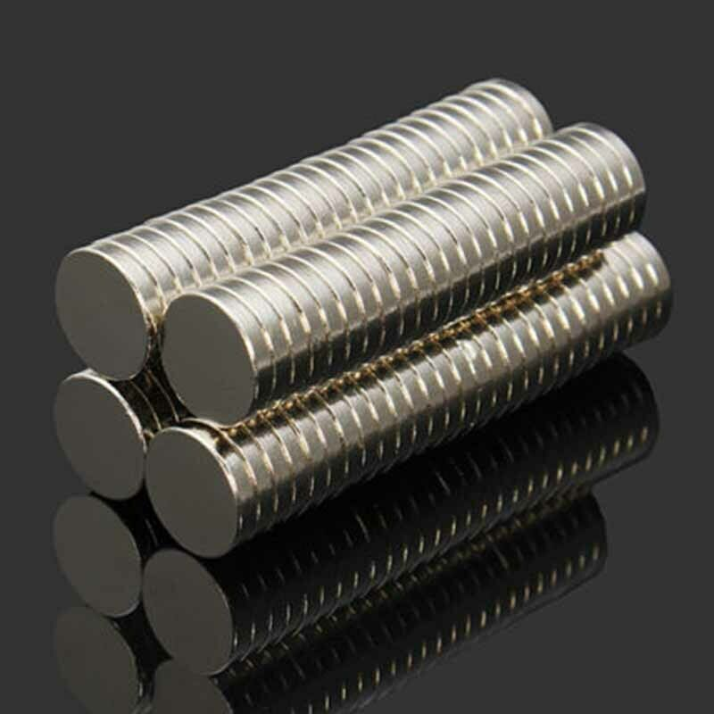 100pcs 10mm x 2mm NdFeB Super Strong Disc Magnets Rare Earth