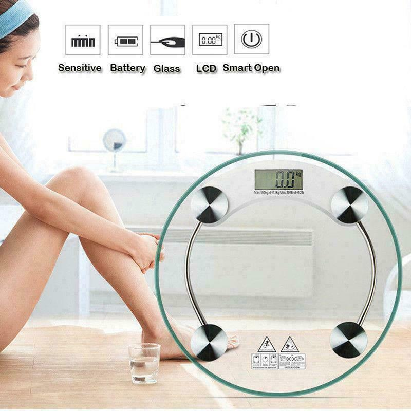 180KG 396lb Tempered Glass Digital Electronic Body Scale Bathroom Weight Scale