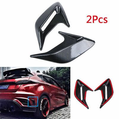 - 2pcs Universal Decorative Cover Car Air Flow Intake Hood Scoop Bonnet Vent Cover