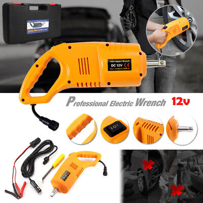 12V Electric Auto Impact Wrench Wheel Tire Nut Repair Tire Removal Tools 1Set