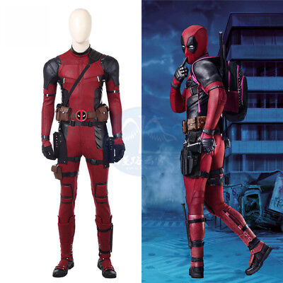 Deadpool 2 Wade Cosplay Costume Deadpool Full Set Halloween Outfit Custom Made - Halloween Deadpool Costume