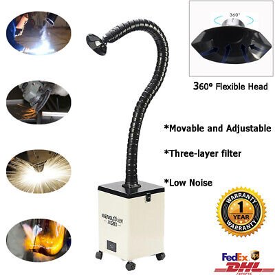 Welding Fume Extractor Smog Smoke Absorber Removal Air Cleaner Single Head 220v