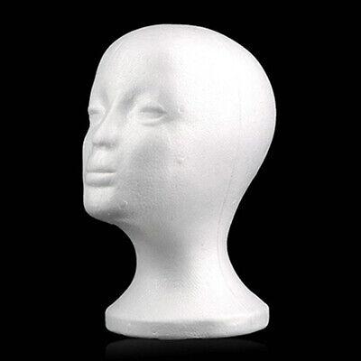 Display Female Styrofoam Mannequin Head Model Glasses Hat Wig Foam Holder Stand