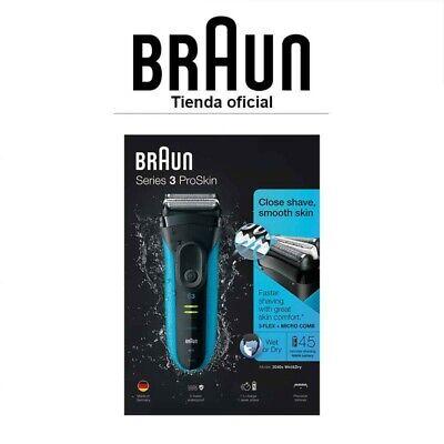 Afeitadora Eléctrica Braun Series 3 3040s ProSkin Wet&Dry Inalámbrica Precisión