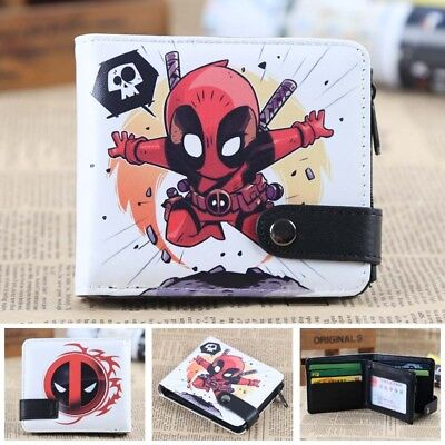 HOt Anime Deadpool Cosplay PU Leather Purse Wallet