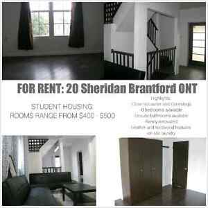 Beautiful student home: 3 rooms available for RENT