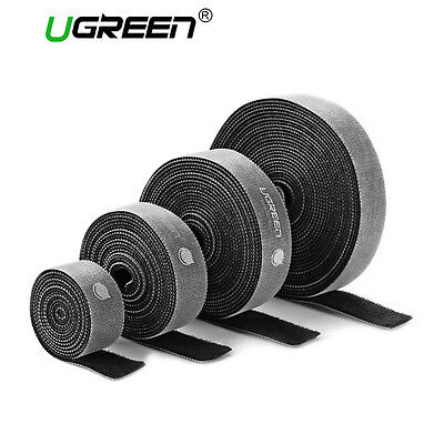 UGREEN 15FT Hook and Loop Tape Strap Cable Ties Fastener Self Adhesive Roll Wrap