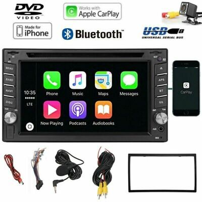 "6.2"" IPHONE SIRI 2DIN AUTORADIO APPLE CARPLAY DVD PLAYER USB SD + Rückfahrkamera"