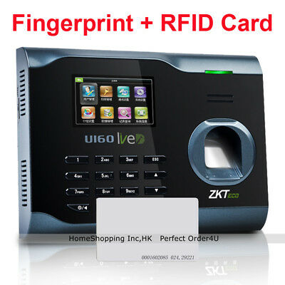 Zkteco Biometric Fingerprint Id Card Attendance Time Clock U160wifitcpipusb