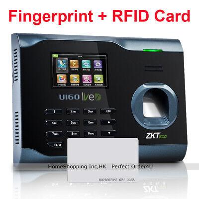 Zkteco Biometric Fingerprint Id Card Attendance Time Clock U160wifitcpipusb