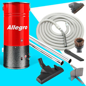 Central Vacuum COMPACT Unit Allegro 30' Hose & Attachments