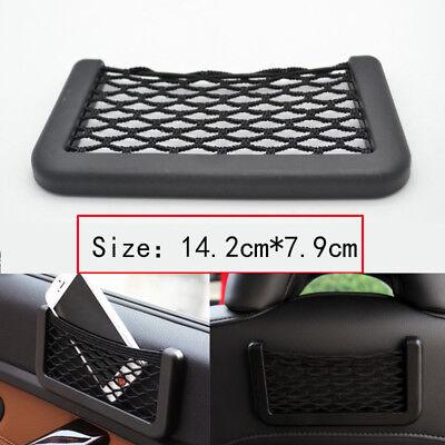 Car Seat Side Back Storage Net Bag Phone Holder Pocket Organizer Black String