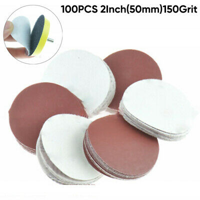 100Pcs 2 Inch 50mm Sandpaper Disc Hook And Loop Sanding Sand