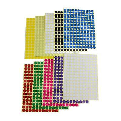 10mm x 165 Round Dot Stickers Coloured Circles Circular Sticky Labels - 10 Color - Colored Dot Stickers