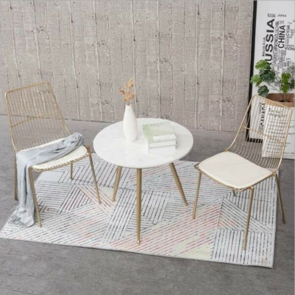 TMDT 01 Marble Coffee/Cafe/Side/Outdoor Table, Retro Chair