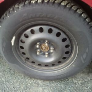 Price reduced! Used Anteres Grip 60 Snow and Ice Tires on Rims