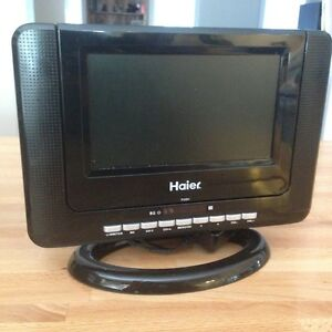 "Haier 7"" LCD TV/DVD Combo w/remote, pwr cord, car adapter"