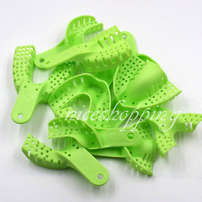 Dental Orthodontic Supply Impression Trays Autoclavable Central 10 Pcs Denture