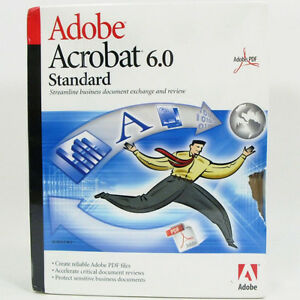 Brand New Adobe Acrobat Standard 6.0 for Windows w/ Serial Numbe
