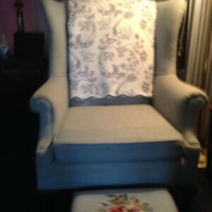 Antique Baby Blue Arm Chair
