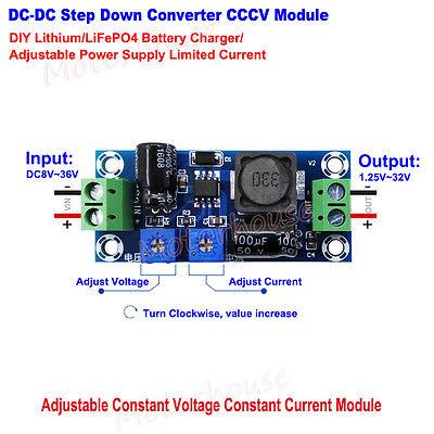 Dc-dc Buck Constant Voltage Current Converter Diy Lithium Battery Charger Module