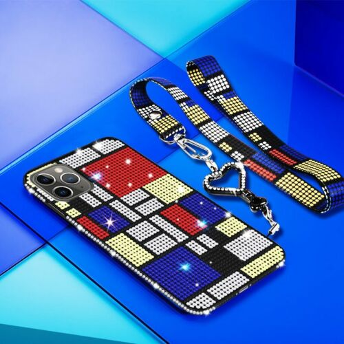 For iPhone Xs Max XR 11 8 7 6S Plus Women Crystal Bling Diam