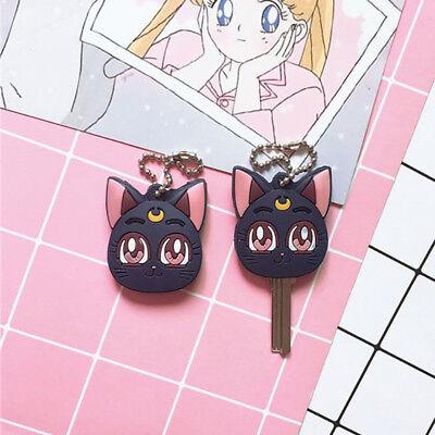 Moon Key - Anime Sailor Moon Luna Cat Keychain Pendant Key Chains Key Cover Keyring Cosplay