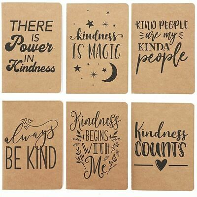 24pack Motivational Kraft Travel Journal Notepads Notebooks Lined Paper 4x5.75