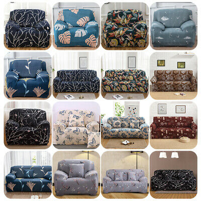1/2/3 Seat Stretch Spandex Chair Sofa Couch Cover Elastic Sl