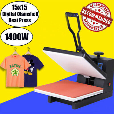 1800W 110V Power Industrial Digital 15X15 Sublimation T-Shirt Heat Press Machine