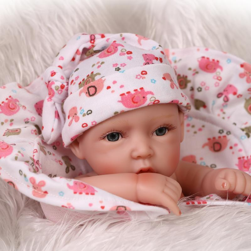 "11""-Handmade-Reborn-Real-Looking-Newborn-Baby-Girl-Vinyl-Silicone-Realistic-Doll"