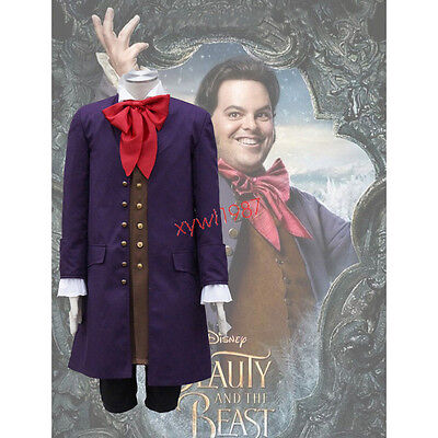 2017 Movie Beauty and the Beast Lafou Cosplay Costume Halloween costume full set